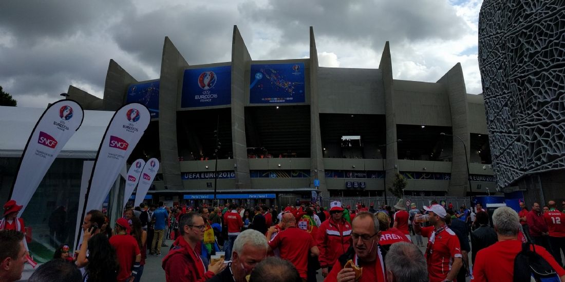 Le Parc des Princes à Paris avant le match Portugal-Autriche, le 18 juin 2016.